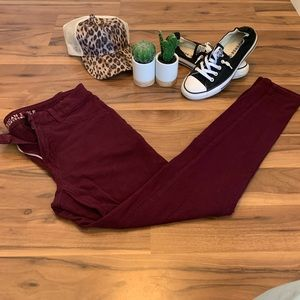 American Eagle maroon jeggings size 10